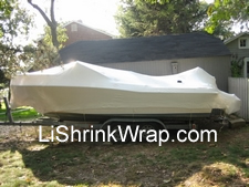 boat and jet ski shrink wrapping
