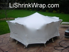 Patio furniture shrink wrapping