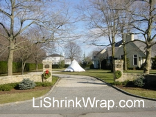 Shrink Wrap Of Large Out Door Ornaments